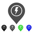electric marker flat icon vector image