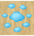 Old Paper And Web Clouds vector image vector image