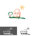 home house logoicon vector image