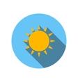 Sun flat icon vector image vector image