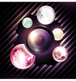 abstract photographer background vector image vector image