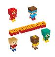 amazing superhero isometric theme vector image