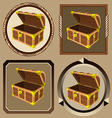 icons pirate chest vector image vector image