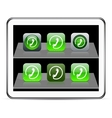 Call green app icons vector image