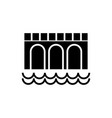bridge icon black sign on vector image
