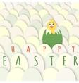 Easter chicken greeting card vector image