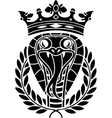 king of snakes vector image