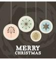 merry christmas ball holiday december vector image