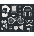 set of vintage styled design hipster stuff vector image