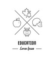 website banner and landing page of education vector image