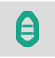Icon of rubber boat vector image