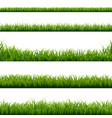 big set green grass borders vector image vector image