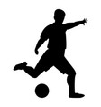 footballer the black color icon vector image