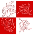 Cupids outline vector image