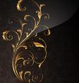 Golden Floral Design vector image