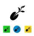 black starting plant from seed icon vector image vector image