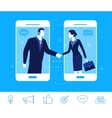 business concept Handshake vector image