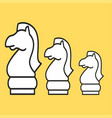 chess figure horse on a yellow background vector image