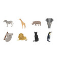 different animals icons in set collection for vector image