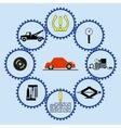 Flat tire flow chart vector image