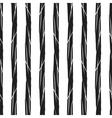 Grunge stripes seamless pattern black vertical vector image