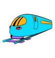 high speed train icon icon cartoon vector image