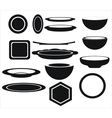 icon of plates of different shapes vector image