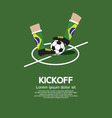 Kick Off vector image