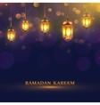 Ramadan Lights Poster vector image