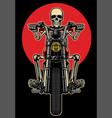 skull riding motorcycle vector image
