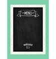 Vertical menu chalkboard for cafes and restaurants vector image