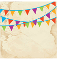 Banner with flags on the paper vector image vector image