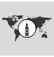 traveling world london monument design graphic vector image