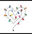 Heart love light bulb wedding vector image vector image