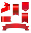 Red Web Ribbons Set vector image vector image