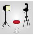 photo studio equipment with camera eps10 vector image