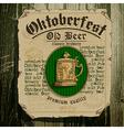 Oktoberfest design vector image vector image