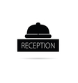 reception bell icon vector image