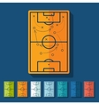 Flat design playing field vector image