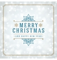 Christmas snowflakes and typography label design vector image vector image