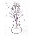guitar tree vector image vector image