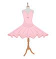 Ballet dress on mannequin vector image