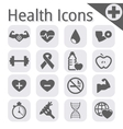 black fitness and health icon vector image
