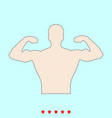 bodybuilder it is color icon vector image