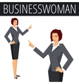 businesswoman showing something vector image