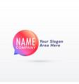 chat logo concept design vector image