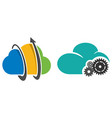 data clouds management vector image