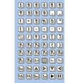 Keyboard symbol vector image