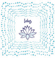 lotus flower cute zen vector image