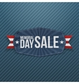 Memorial Day Sale greeting Label with Ribbon vector image